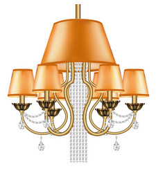 A crystal chandelier bronze vintage with pendants vector