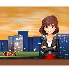 A female reporter vector