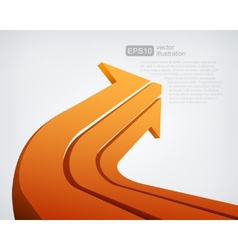 Abstract 3d arrow vector