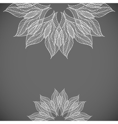 Abstract background with lacy flower vector