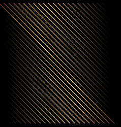 Abstract gold diagonal line pattern on black vector