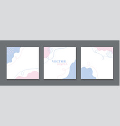 Abstract minimal backgrounds for instagram social vector