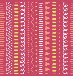 Abstract pink doodle background seamless vector