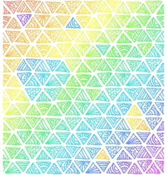 Abstract rainbow colors triangles vector image