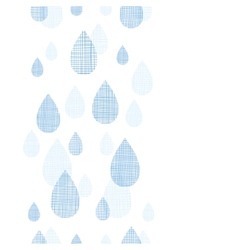 Abstract textile blue rain drops vertical seamless vector image