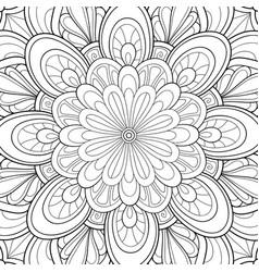 Adult coloring bookpage a kawaii rabbit vector