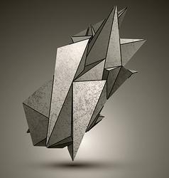 Asymmetric peak technology metallic object vector