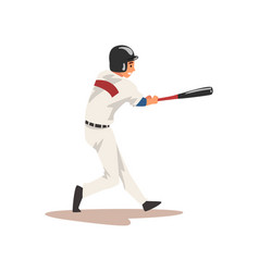 baseball batter hitter softball athlete character vector image