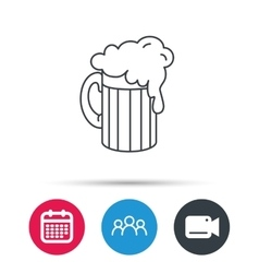 Beer icon Glass of alcohol drink sign vector image