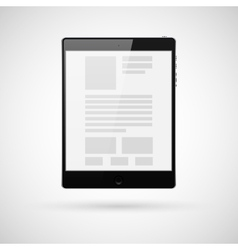 Black tablet computer for template vector image