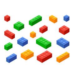 block toy brick building icon isometric vector image
