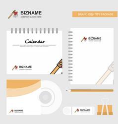 Bloody axe logo calendar template cd cover diary vector