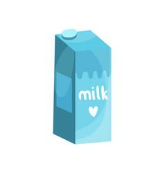 blue box of milk vector image