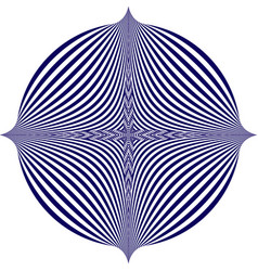 blue pattern creates an optical vector image