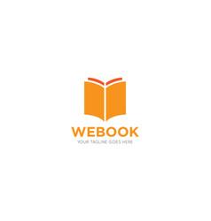 Book logo and icon vector