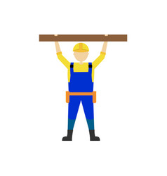 Builder man worker character professional vector