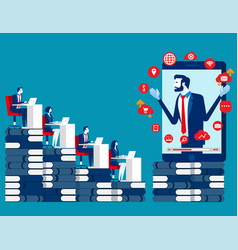 business learning online concept business vector image