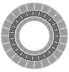 Celtic mandala with 3 different elements in rings vector
