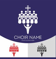 choir christian church vector image