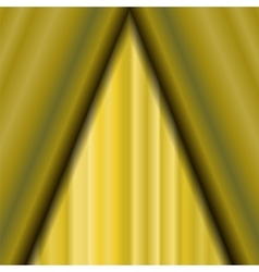 Cinema Closed Yellow Curtain vector