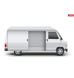 classic service van minibus vector image