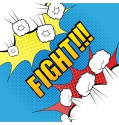 Comic fight template vector
