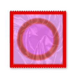 condom wrapper over white vector image