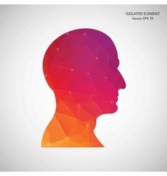 Creative concept head silhouette for Web vector