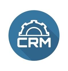 CRM Platform Icon Flat Design vector