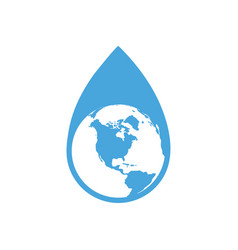 drop of water with our planet vector image