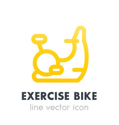 Exercise bike icon in line style vector