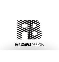 Fb f b lines letter design with creative elegant vector