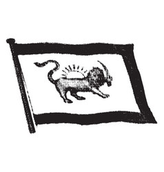 flag of persia 1912 vintage vector image