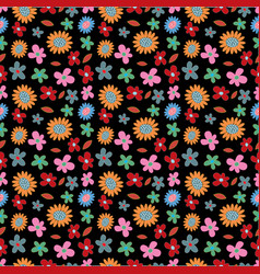 flower spring seamless pattern background vector image