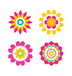 flowers in bloom collection vector image