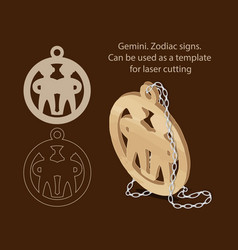 gemini zodiac signs can be used as a template vector image