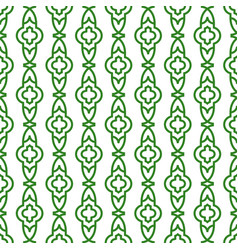 Green line geometric seamless pattern vector