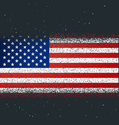 Grunge textured flag america vector