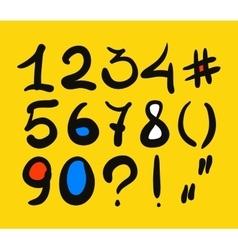 Hand drawn digits vector