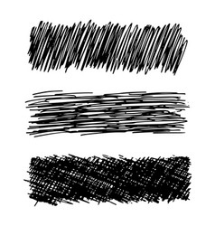 Hand drawn rectangle scribble smear vector