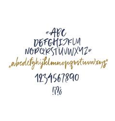 Handwritten script font brush font vector