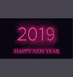 Happy new 2019 year vector