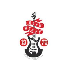 heavy rock music festival est 1979 logo design vector image