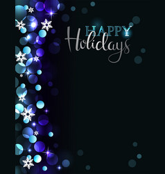 holiday party invitation on silver-blue background vector image