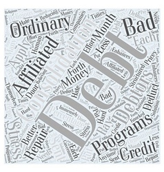 How to Repair Your Bad Credit with Debt vector