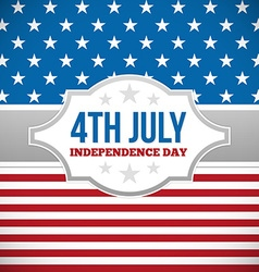 Independence day design vector image