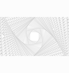 Infinite twisted rhombic or square white vector