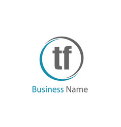 initial letter tf logo template design vector image