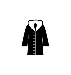 jacket with fur icon on white background clothing vector image