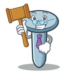 Judge nail character cartoon style vector